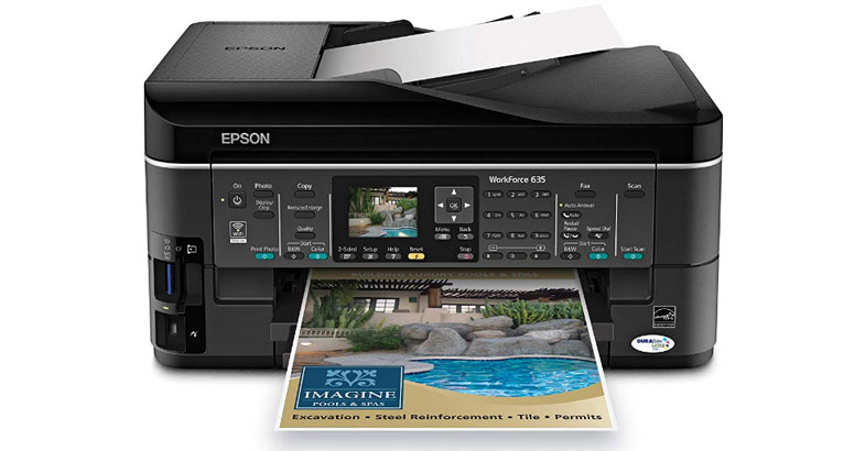 Epson WorkForce 635 - Best All In One Color Inkjet Printer